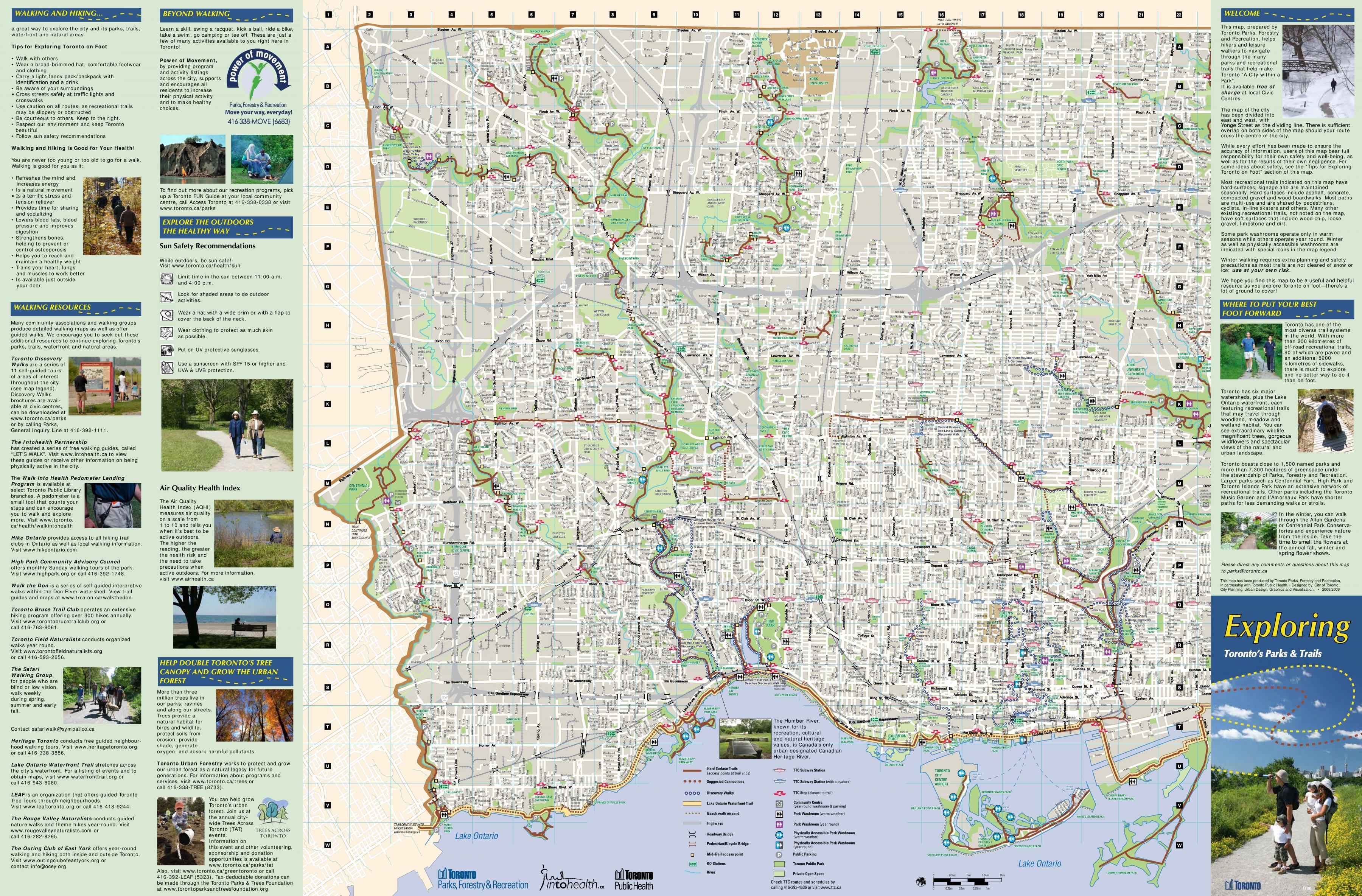 Parker Og Vandreruter Vest For Toronto Kort Kort Over Parker Og