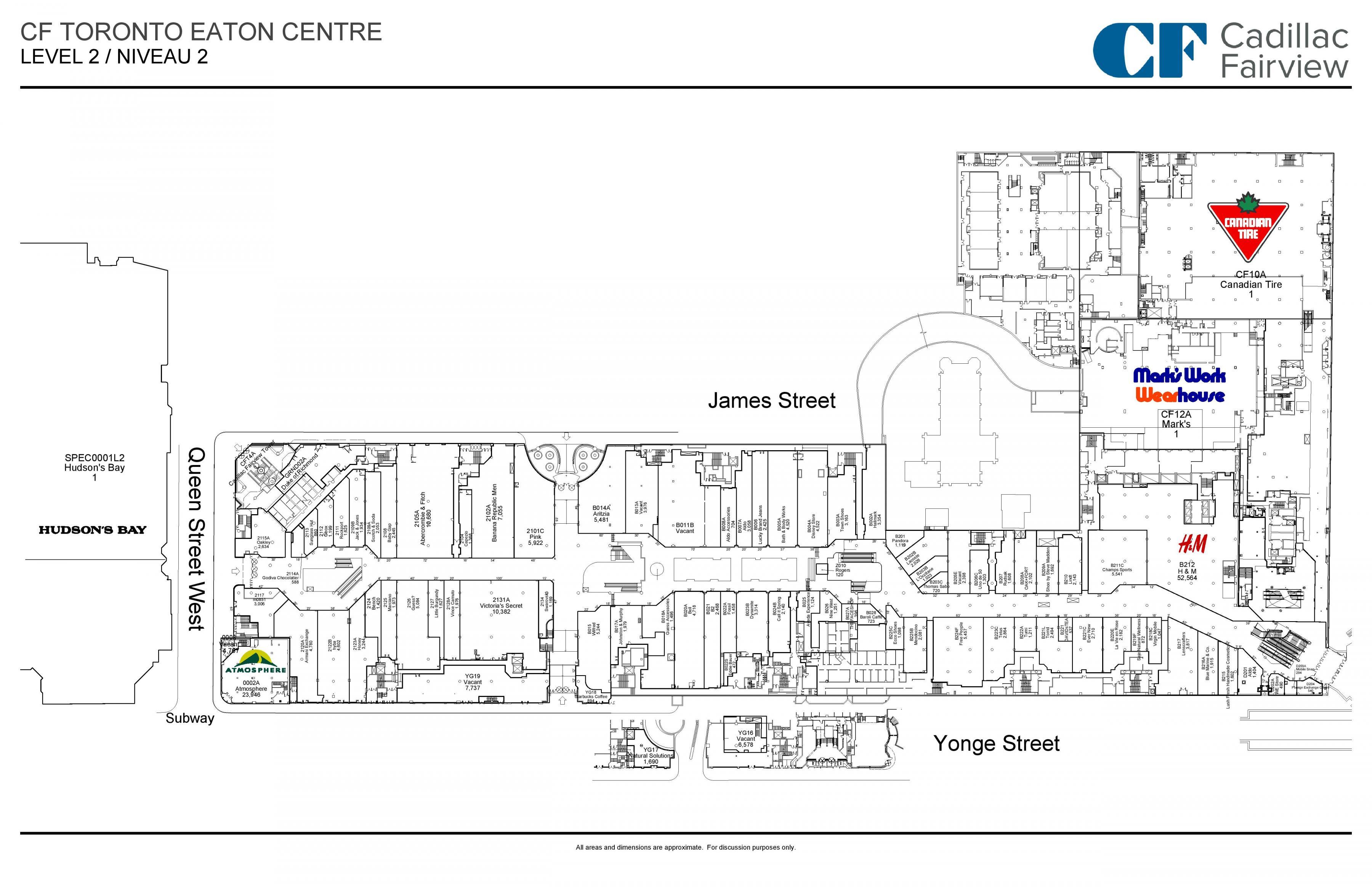 Toronto Spist Center Plan 2 Kort Kort Over Toronto Spist Center